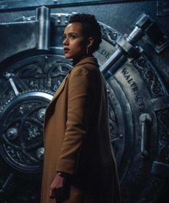 Nathalie Emmanuel Brown Army of Thieves 2021 Trench Coat