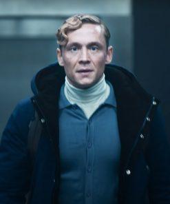 Matthias Schweighöfer Army of Thieves 2021 Blue Hooded Jacket