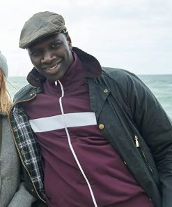 Omar Sy TV Series Lupin Assane Diop Black Cotton Jacket