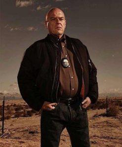 Hank Schrader TV Series Breaking Bad Black Bomber Jacket