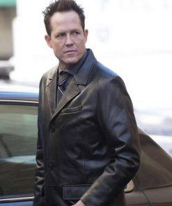 Dean Winters TV Series Brooklyn Nine-Nine Black Leather Coat