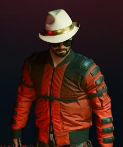 Johnny Silverhand Second Conflict Flight Cyberpunk 2077 Red Bomber Jacket