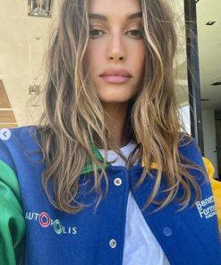 Tricolor Bomber Hailey Bieber Benetton Formula 1 Jacket