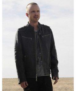 Breaking Bad Aaron Paul Black Leather Jacket