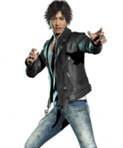 Judgement Yagami Black Biker Leather Jacket