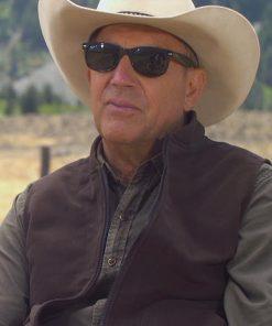 Kevin Costner Yellowstone Season 4 John Dutton Brown Vest
