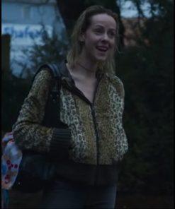 Jena Malone Lorelei 2021 Dolores Leopard Bomber Jacket