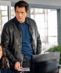 Kristoffer Polaha Mystery 101 Killer Timing 2021 Black Leather Jacket