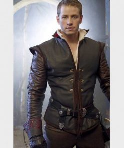 Josh Dallas TV Series Once Upon a Time Brown Leather Jacket
