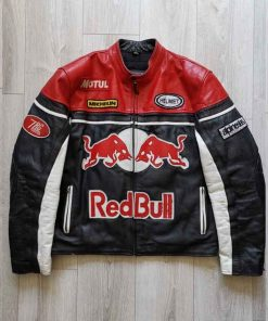 RED BULL Racing Leather Jacket for Mens and Womens