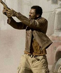 Mike Epps Brown Resident Evil Extinction L.J Leather Jacket