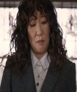Ji-Yoon Kim TV Series The Chair 2021 Sandra Oh Grey Blazer