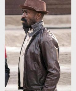 Brown Barton Fitzpatrick TV Series The Chi Leather Jacket