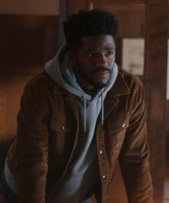 Grover Sims Brown Cotton The Republic Of Sarah Jacket