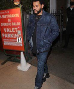 Blue Denim The Weeknd Canadian Singer Jacket