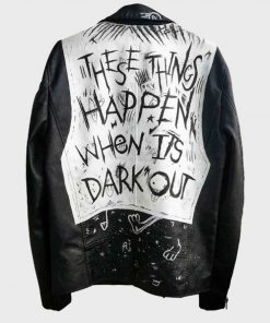 These Things Happen When It's Dark Out G-Eazy Black Motorcycle Leather Jacket