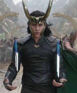 Tom Hiddleston Thor Ragnarok Loki Black Leather Jacket