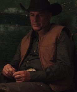 Kevin Costner TV Series Yellowstone S04 Leather Vest