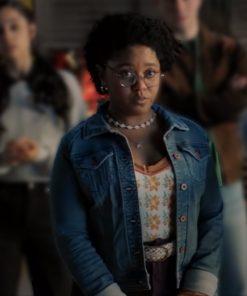 Anjelika Washington TV Series Stargirl S02 Blue Denim Jacket