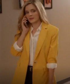 Jen Lilley A Little Daytime Drama Blazer Maggie Coleman Yellow Blazer