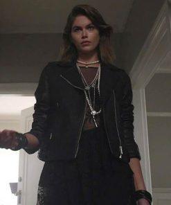Kaia Gerber American Horror Stories 2021 Black Leather Jacket