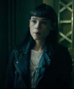 Astrid Bergès-Frisbey Black The Vault 2021 Lorraine Leather Jacket