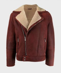 Men's Shearling Leather Jacket