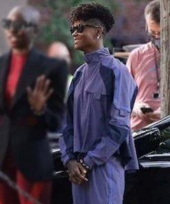 Letitia Wright Black Panther: Wakanda Forever 2022 Shuri Purple Cotton Jacket
