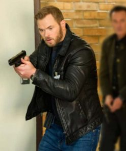 Kellan Lutz TV Series FBI: Most Wanted Black Leather Jacket