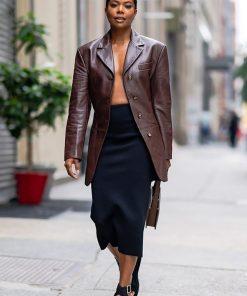 Gabrielle Union Leather Blazer Gabrielle Union Leather Jacket