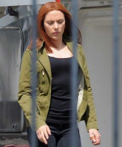 Scarlett Johansson Captain America The Winter Soldier Green Cotton Jacket