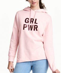 Grl Pwr Hoodie Pink Girl Pwr Hoodie for Womens
