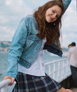Alina Boz Blue Denim TV Series Love 101 Eda Jacket