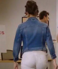 Chloe Bridges Love, for Real 2021 Blue Hayley Denim Jacket