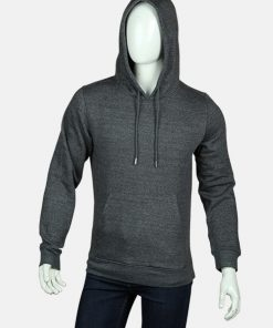 Mens Casual Style Grey Pull Over Hoodie