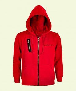 La Casa De Papel Money Heist Unisex Red Zipper Hoodie Jacket