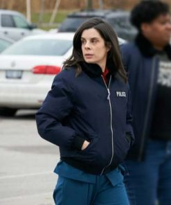 Meredith MacNeill TV Series Pretty Hard Cases Samantha Wazowski Blue Bomber Jacket