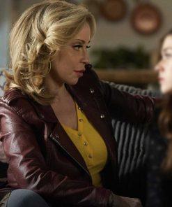 Tiggy Sullivan TV Series Pretty Hard Cases Tara Strong Biker Leather Jacket