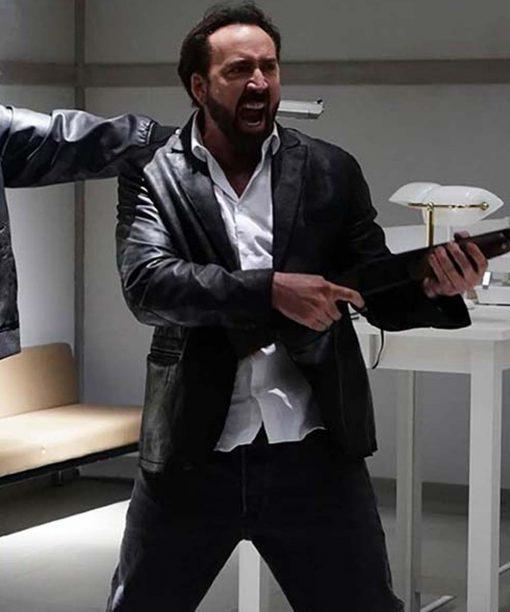 Hero Black Prisoners of the Ghostland 2021 Nicolas Cage Hero Leather Blazer