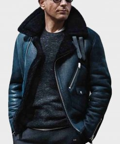 James Bond Sheepskin Shearling B3 Leather Jacket
