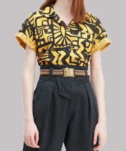 Stranger Things Season 3 Yellow and Black El Aztec Shirt