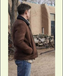 Tanner Novlan Roswell New Mexico SO3 Suede Brown Leather Shearling Jacket