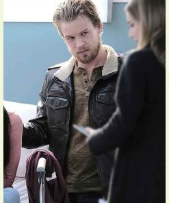 Jesse Luken TV Series The Resident S03Ep17 Black Leather Jacket