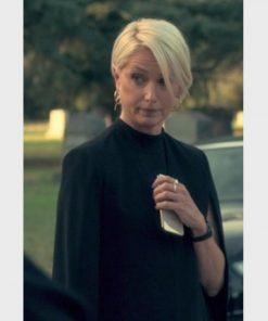 Katherine LaNasa TV Series Truth Be Told Noa Havilland Black Cape Blazer