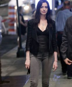 Rebekah Neumann TV Series Wecrashed 2022 Black Leather Jacket