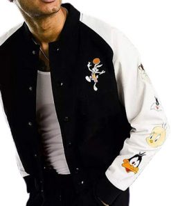 LeBron James Space Jam A New Legacy Varsity Jacket with Printed Logo