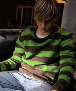 American Horror Story Tate Langdon Green Striped Sweater