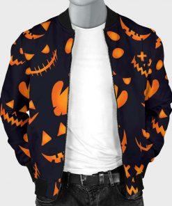 Halloween-Pattern-Bomber-Pumpkins-Jacket