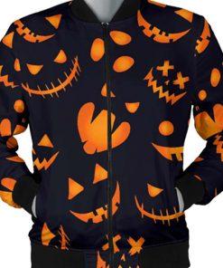 Halloween Festival Pumpkins Pattern Bomber Jacket