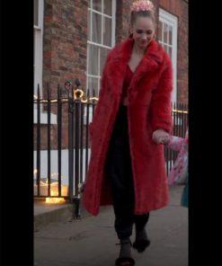 Keeley Jones Red Ted Lasso Juno Temple Fur Coat